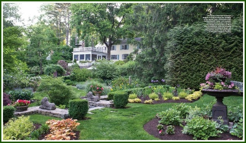 The backyard garden of Arlene Scanlan, in Westport. (Photo/Stacy Bass)