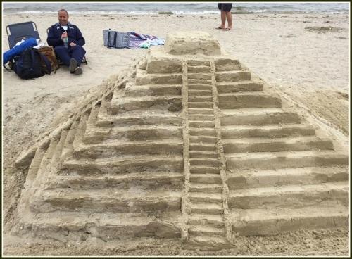 An intricate ziggurat.