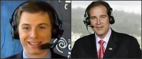 Eric Gallanty (left) and Jim Nantz.