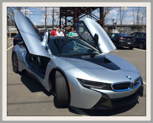 Art Cohen's hybrid BMW i8 drew many admiring  glances.