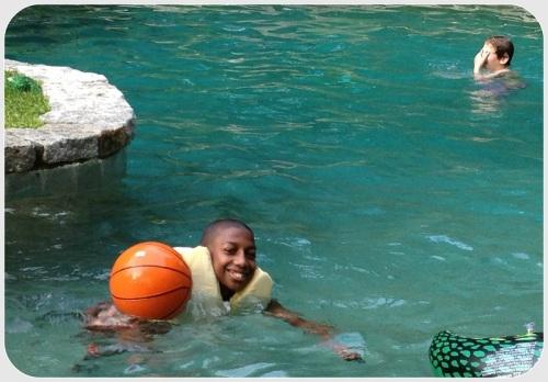 JJ enjoyed swimming...