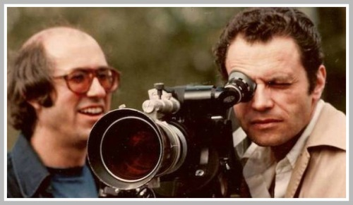 """Harvey Gabor (right) shooting the """"Hilltop"""" ad in Tuscany."""