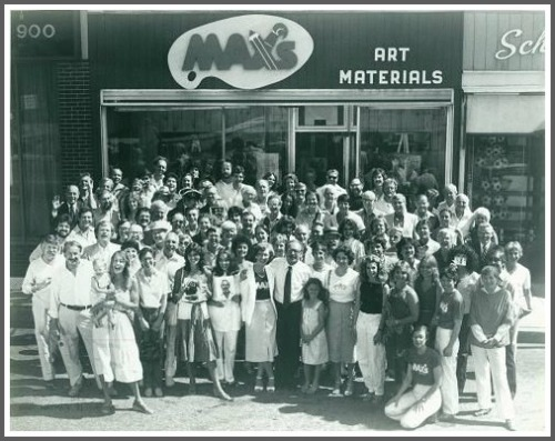 The famous 1981 photo. Max Kaplan and Shirley Mellor are in the center of the front row.