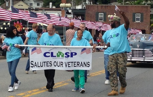 CLASP salutes homeless veterans. (Photo/Dayle Brownstein)