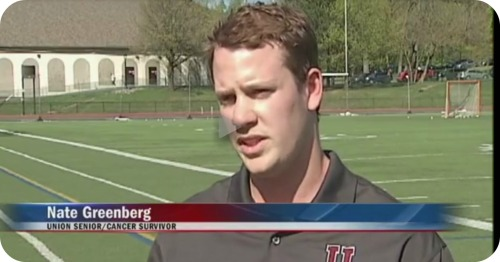 A month before his graduation speech, Nate Greenberg was interviewed on Albany's News 10.