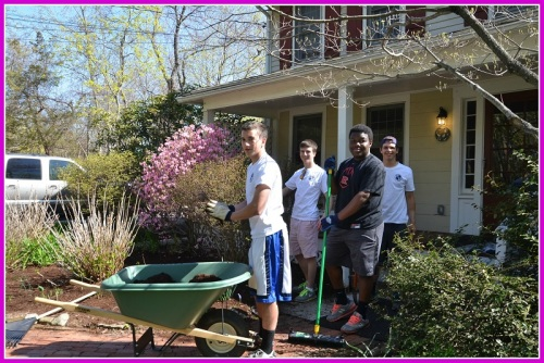 Among their many efforts, SLOBs (Service League of Boys) sponsors an annual spring clean-up day.