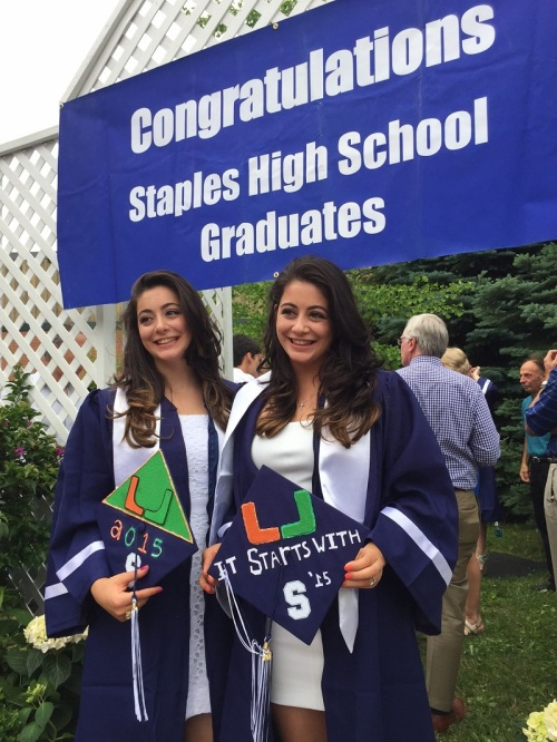 Congratulations, Kristen and Pam Onorato -- and everyone else in the Class of 2015.