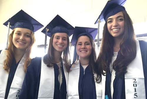 Friends to the end: Sarah Sawyer, Zoe Brown, Sarah Herbsman and Sophia Hampton.