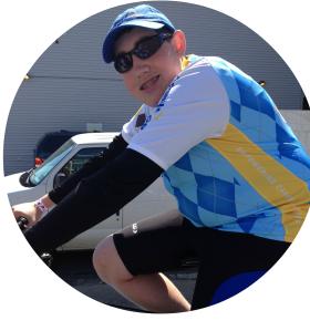 Cancer survivor Aaron Gaberman leads a very active life.