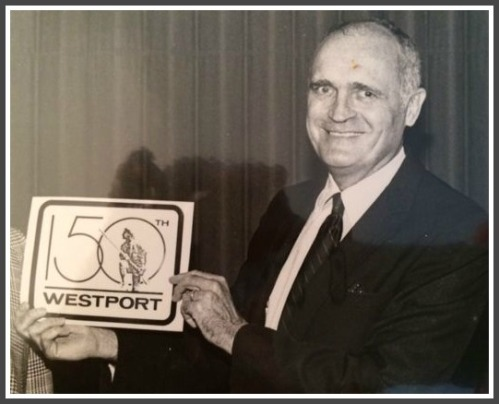 In 1985, Bob Loomis designed the logo for Westport's 150th anniversary celebration.