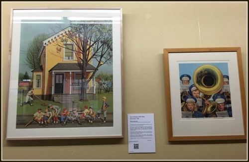 Two 1946 illustrations by Stevan Dohanos -- both using Westport models -- hang on the 3rd floor of Town Hall.