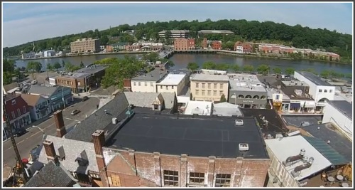 A view of downtown, from David Waldman's drone.