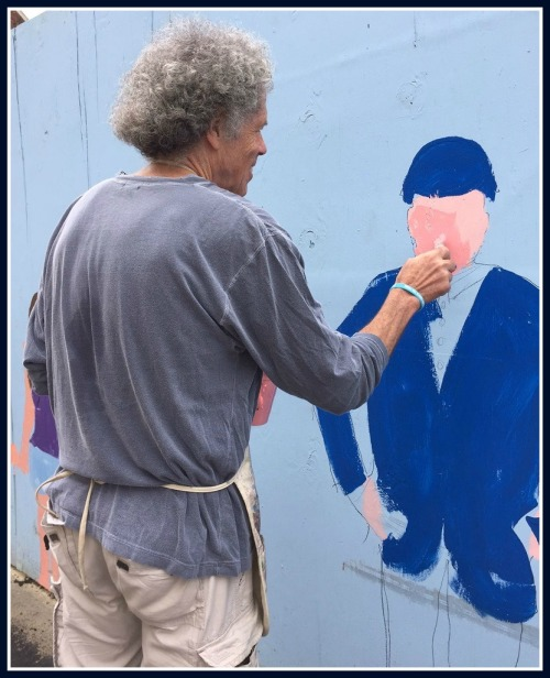 Miggs Burroughs paints former first selectman and Westportnow founder Gordon Joseloff.
