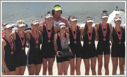 ... and the national champ lightweight 8 boat.