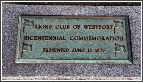 Lions Club plaque - Jesup Green flag pole