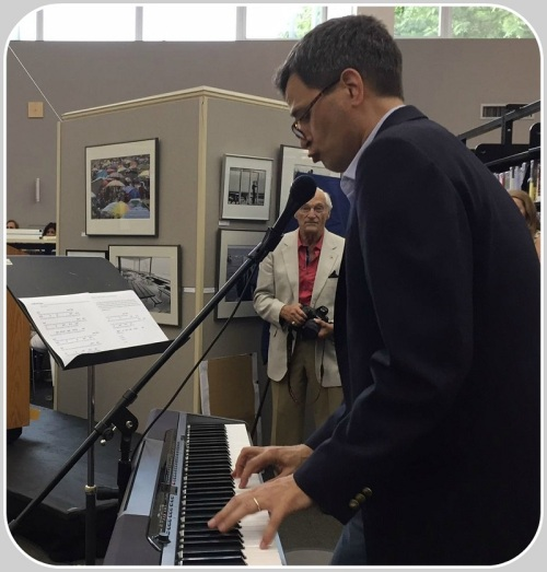 Tech guru David Pogue -- who joked that Maxine got him involved in the Westport Library before he even moved from Stamford -- performed an original (and never-to-be-heard again) number: