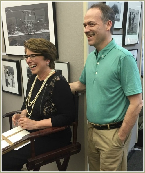 New York Times crossword puzzle editor Will Shortz presented Maxine with a special gift (see below).