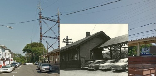 Then and now 2 - train station