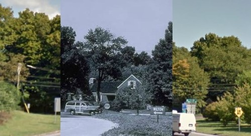 Then and now 5 - Merritt Parkway exit 41