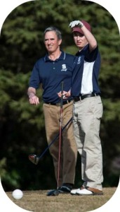 Coach Tom Owen, on the golf course.