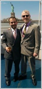 Ben Kampler (left) and his husband Jeff Bravo.