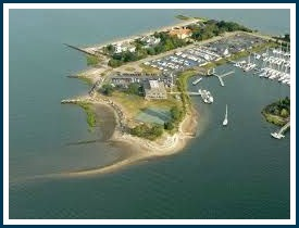 Cedar Point Yacht Club, from the air.