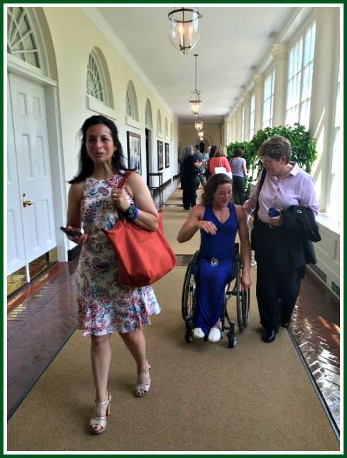 Dorian Kail and Tatyana McFadden stroll through the White House.