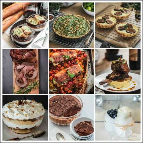 Some of the creations in Jane Green's new cookbook.
