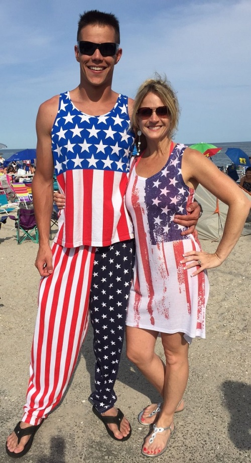 Andrew Colabella and Shelley Welch make a patriotic pair.