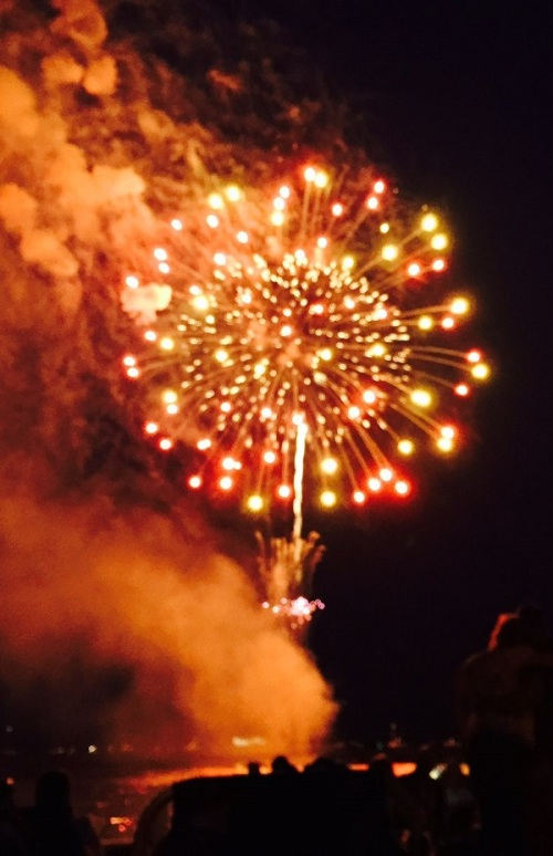 And the obligatory fireworks shot! (Photo/Betsy P. Kahn)
