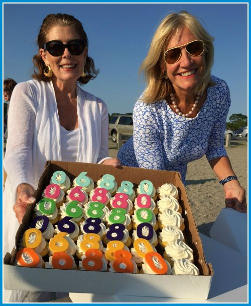 "Louise Crowley and Robin Tauck offer Leah Brandfon's fantastic ""06880"" cupcakes."