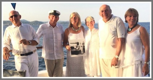 The 2nd and 3rd Tauck generations (from left): Peter, Chuck, Robin, Ronnie and her husband Arthur Jr., Liz. Most live (or have lived) in Westport. Missing: Kiki.