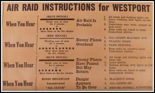 Air raid instructions