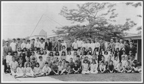 Coleytown Elementary School's graduating 6th graders, in 1965.