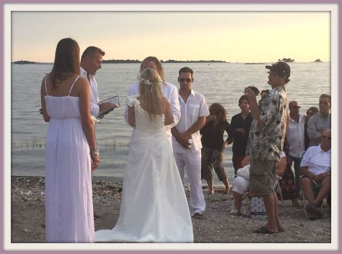 Compo Beach wedding