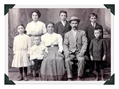 A Gilbertie family photograph, circa 1910.