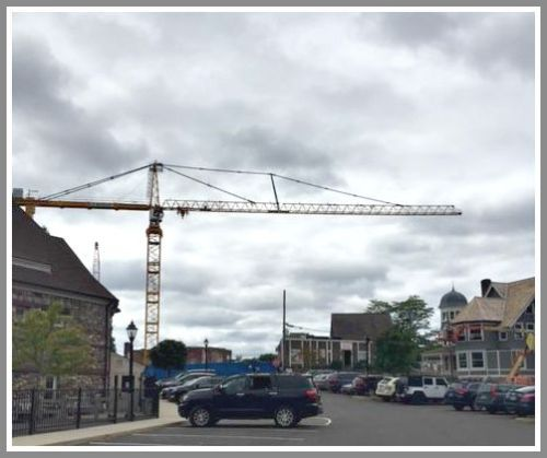 Crane over downtown - Bedford Square