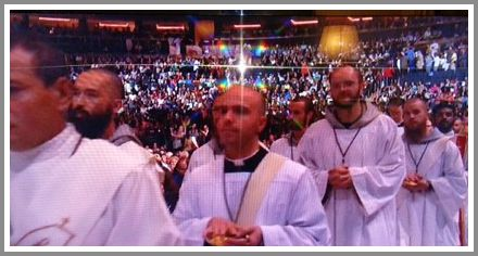 Deacon Dave Clarke, front and center.