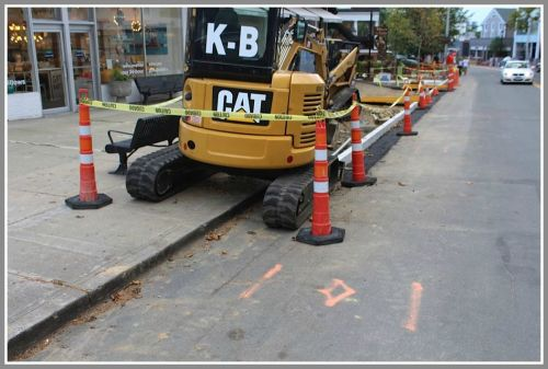 New sidewalks and curbing were installed last year.