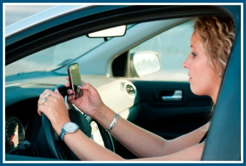 Texting is so much more interesting than paying attention to the road.