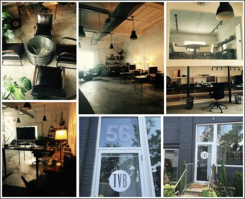 The Visual Brand office: inside and out.
