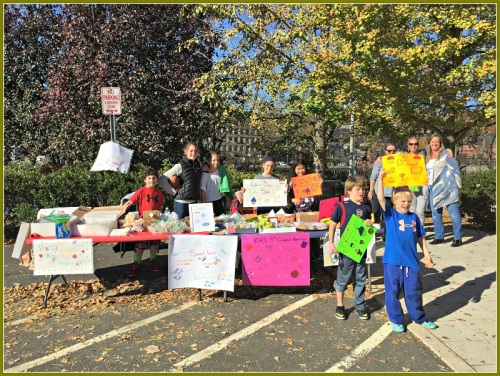 Kings Highway Elementary School students, parents and siblings rock the Election Day bake sale at the Westport Library.