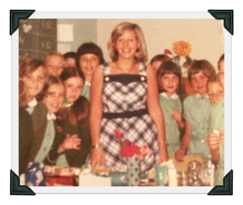 Miss Malbin with her Grade 5 class, in 1975.