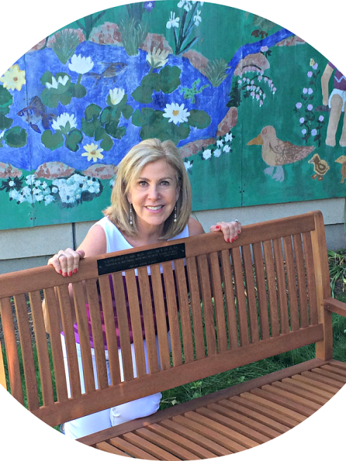 When she retired in 2014, Hazel Malbin was honored with a bench in Long Lots' butterfly garden. The plaque includes a quote from Nelson Mandela.