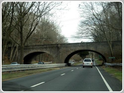 The same bridge, before being encased in wood.