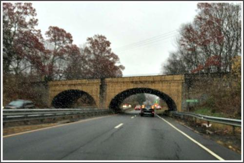 The Merritt Parkway Newtown Turnpike bridge. (Photo/Jonathan McClure)