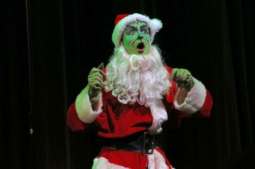 "Don Rickenback's original production number included a Santa ""Grinch."" (Photo/Lynn U. Miller)"