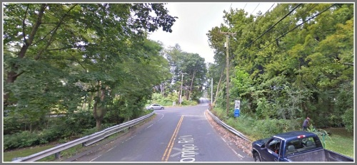 North Compo Road (shown at the bottom of this Google Earth View photo) and Clinton Avenue (top) are not aligned. That makes this intersection with Main Street one of the most difficult -- and dangerous -- in Westport.