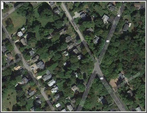 A Google Maps view of the same intersection.