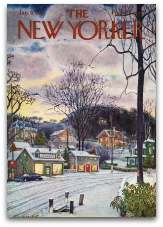New Yorker cover - Jan 9, 1965 - Wilton Road and Post Road